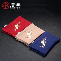 唐丰吸水加厚中国风茶布创意刺绣茶垫茶具茶道配件零配纯棉麻茶巾