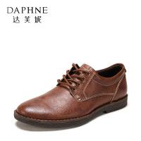 达芙妮集团 鞋柜 春秋时尚休闲系带商务男鞋皮鞋1117414064
