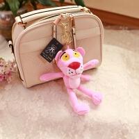 粉红豹粉红顽皮豹挂件钥匙扣可爱毛绒玩具车挂件饰品女生礼物