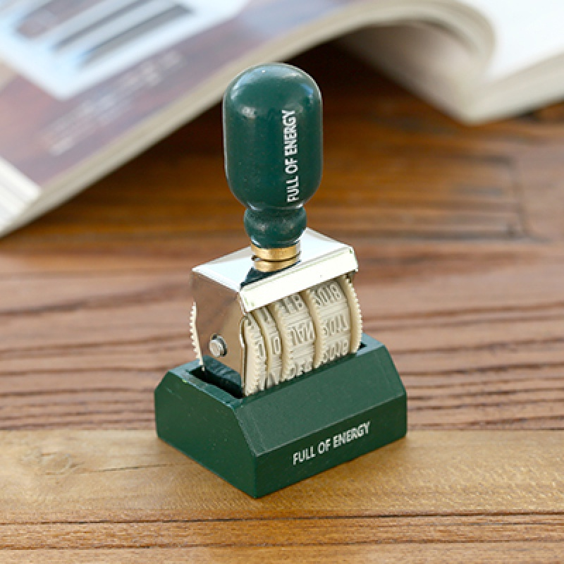 一件 韩国满满能量复古日期印章 DIY滚轮旋钮印章 手帐专用 发货周期:一般在付款后2-90天左右发货,具体发货时间请以与客服协商的时间为准