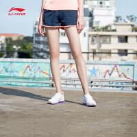 李宁短卫裤女士新款训练系列女装夏季针织运动裤AKSN166