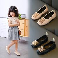 女童皮鞋春秋2020新款�n版�和�公主鞋�底小女孩�涡�舞蹈鞋豆豆鞋