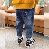左西童装男童牛仔裤长裤秋装2021新款儿童裤子春秋洋气中大童男孩宽松