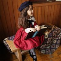 女童蕾丝公主裙冬季2017新韩版儿童加厚加绒裙子女大童新年连衣裙