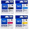 爱普生原装 EPSON 141墨盒 T1411黑色墨盒 T1412青色 T1413洋红色 T1414黄色 爱普生EPSON ME330 ME33 ME35 ME350 ME535 ME560W ME570W ME620F打印机墨盒