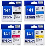 爱普生原装 EPSON 141墨盒 T1411黑色墨盒 T1412青色 T1413洋红色 T1414黄色 爱普生EPS