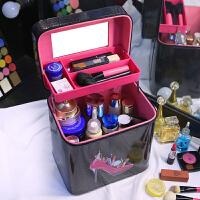 大容量双层化妆包便携旅行可爱化妆箱专业手提大号洗漱化妆盒SN2552
