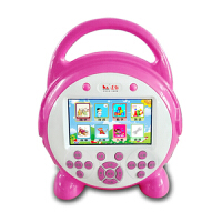 七夕礼物 适用于视频益智早教机智能玩具儿童故事机mp5学习机触屏 16G粉红色4.3寸触屏+按键