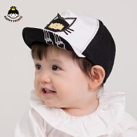 韩版新生婴儿网眼遮阳鸭舌帽儿童棒球帽男女宝宝