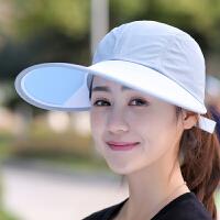 遮阳帽子女士夏季韩版百搭大沿帽户外出游运动鸭舌太阳帽男士