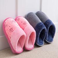 冬季棉拖鞋女室内保暖包跟厚底防滑月子鞋家居家情侣拖鞋男毛毛拖