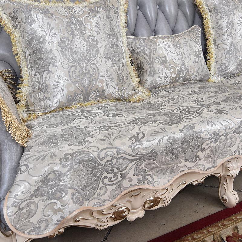 欧式沙发垫现代客厅布艺真皮沙发套罩巾防滑123四季定做   立体提花面料 支持定做 厂家直销