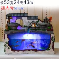 【品牌热卖】创意流水客厅小型玻璃小鱼缸迷你缸水族箱办公室桌面家用风水