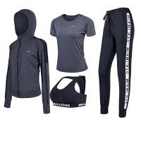 2018春夏新款瑜伽服背心三件套装女健身房运动跑步速干衣性感宽松
