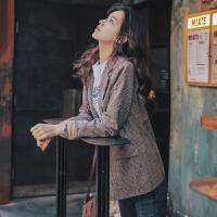 【下单立减120元 仅限今日】西装外套女韩版英伦风格子2019新款春秋季休闲复古网红chic小西服