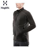 Haglofs火柴棍户外男款秋冬保暖轻量全拉链抓绒夹克603600 欧版