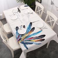 日式简约北欧印花桌布防水格子茶几盖台布餐桌布艺小清新长正方形