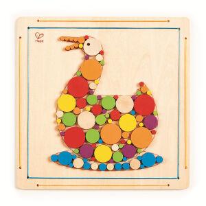 Hape木贴画-梦幻鸭子3-6岁创意绘画手工DIY玩具E5130