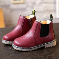 新款保暖儿童雪地靴女童靴子 2018冬季加厚男童短靴宝宝马丁靴潮