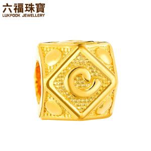 六福珠宝埃及系列云朵黄金串珠路路通足金转运珠 L05TBGP0002