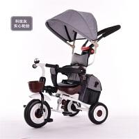 爱德格多功能儿童三轮车宝宝手推车1-3岁婴幼儿童脚踏车