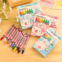 爱好67012学生儿童蜡笔12色24色36色48色64色油画棒涂色笔涂画笔