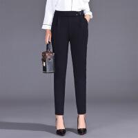 纯色韩版潮流修身显瘦气质唯美可爱街头2018年春季裤子 黑色