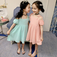 女童吊��裙夏季�L裙�和�中大童沙�┤惯B衣裙