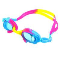 多彩儿童游泳眼镜防水防雾平光男童女童游泳装备通用泳镜 支持礼品卡支付
