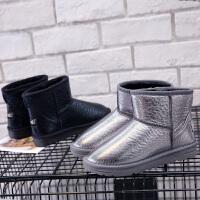环球 雪地靴女冬季2017新款棉鞋加绒保暖短靴韩版学生平底短筒女鞋