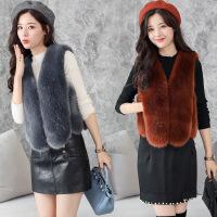 冬新款草马甲女短款时尚修身显瘦外套时尚潮流女装