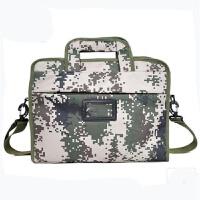 户外野战装备单肩包参谋指挥作业电脑包军迷包单肩挎包迷彩手提包 07迷彩 20-35升