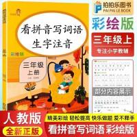 看拼音写词语三年级上册 生字注音部编人教版