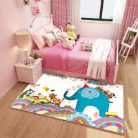 卡通儿童地毯定制公主宝宝爬行垫儿童房床边毯客厅卧室可机洗