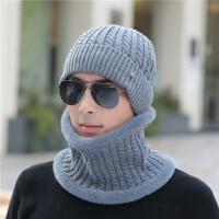 男士帽子冬季青年保暖加厚针织毛线帽韩版潮加绒冬天棉帽防寒套头