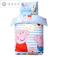 幼儿园被子三件套午睡被学生棉儿童床品六件套含芯小猪佩奇+...