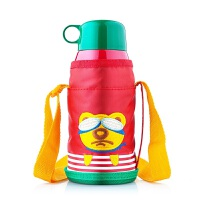 并力儿童吸管保温水壶背袋男女卡通不锈钢保温杯焖粥杯 600ml 600ml