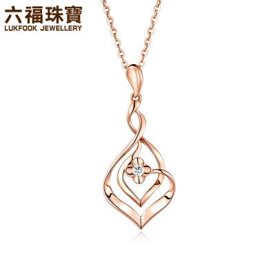 六福珠宝心悦18K金钻石项链吊坠女款彩金吊坠钻石吊坠*定价   25554支持使用礼品卡