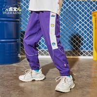 【2件3折:71.7元】小虎宝儿男童长裤2021新款春秋洋气儿童运动裤潮