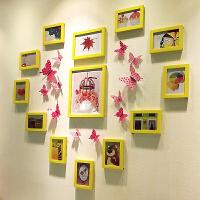 简约心形照片墙贴纸装饰相片墙相框墙挂墙组合