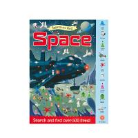 【首页抢券300-100】Search and Find Space 幼儿启蒙活动书 - 太空 找找乐 专注力训练 全彩