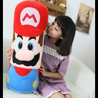 悠悠兔 玛丽奥毛绒玩具马里奥抱枕头枕靠垫布娃娃创意女生生日礼物礼品