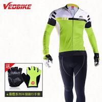 长袖骑行服套装男 春夏秋山地自行车骑行服装 比赛级专业版型