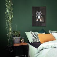 美式乡村墨绿色无纺布壁纸素色卧室客厅背景墙纸复古纯色服装店铺