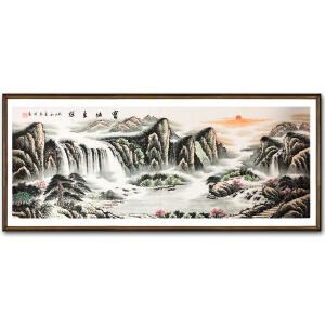 公启明《宝地生辉》著名山水画家