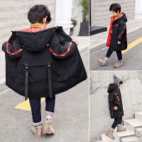 儿童冬季棉衣中长款厚款棉袄2018新款韩版男孩外套
