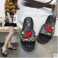 网红拖鞋女外穿百搭潮款时尚学生沙滩鞋海边女鞋一字拖鞋
