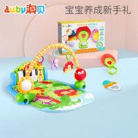 澳贝婴儿健身架宝宝脚踏琴钢琴益智宝宝玩具3-9个月牙胶咬咬乐