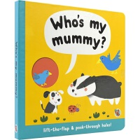 【首页抢券300-100】Who's my mummy?谁是我的妈妈? 启蒙认知 纸板动物翻翻书洞洞书 数数 认知动物