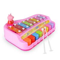 小猪佩奇手敲琴贝芬乐益智幼儿八音幼儿宝宝玩具2-3岁音乐玩具